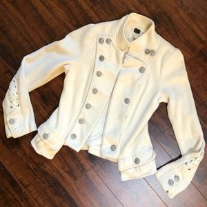 We The Free Cream Moto Military Jacket